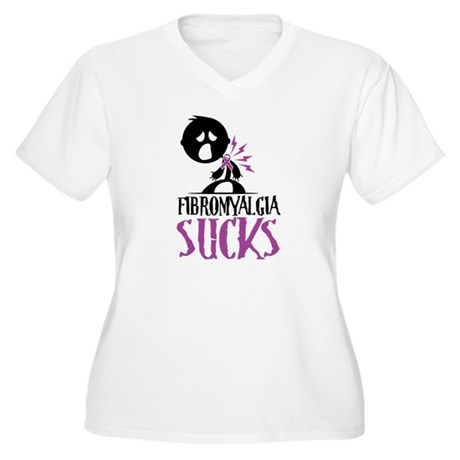 Fibromyalgia Sucks Women's Plus Size V-Neck T-Shir