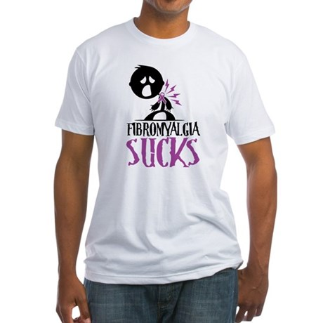 Fibromyalgia Sucks Fitted T-Shirt