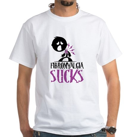 Fibromyalgia Sucks White T-Shirt
