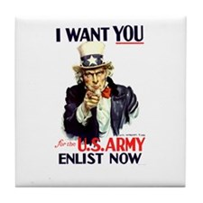 I Want You Tile Coaster