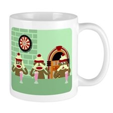 No Evil Sock Monkeys Ice Cream Coffee Coffee Mug