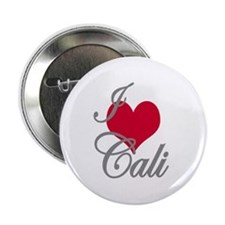 "I love (heart) Cali 2.25"" Button (100 pack)"