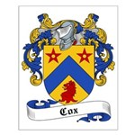 Cox Family Crest Small Poster