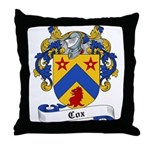 Cox Family Crest Throw Pillow