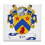 Cox Family Crest Tile Coaster