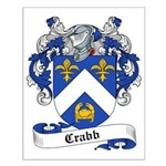 Crabb Family Crest Small Poster