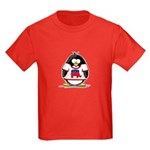 Republican Penguin Kids Dark T-Shirt