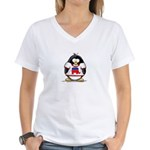 Republican Penguin Women's V-Neck T-Shirt