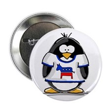 "Democrat Penguin 2.25"" Button (100 pack)"