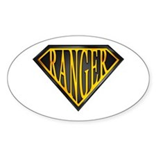 SuperRanger(blk/gld) Oval Decal