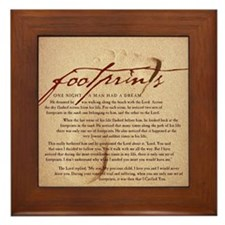 Footprints Artwork Products Framed Tile