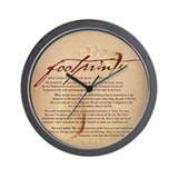 Footprints Artwork Products Wall Clock