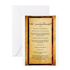 The Ten Commandments Artwork Greeting Card