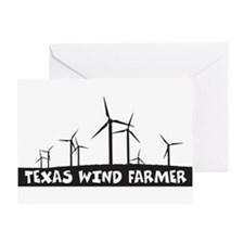 Texas Wind Farmer Greeting Card