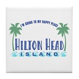 Hilton Head Happy Place - Tile Coaster