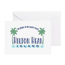 Hilton Head Happy Place - Greeting Card