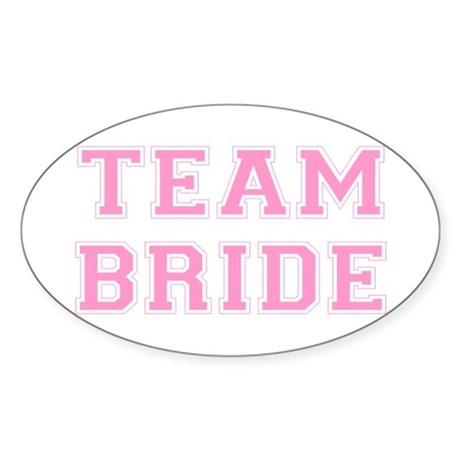 Team Bride Oval Sticker