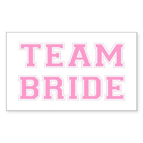 Team Bride Rectangle Sticker