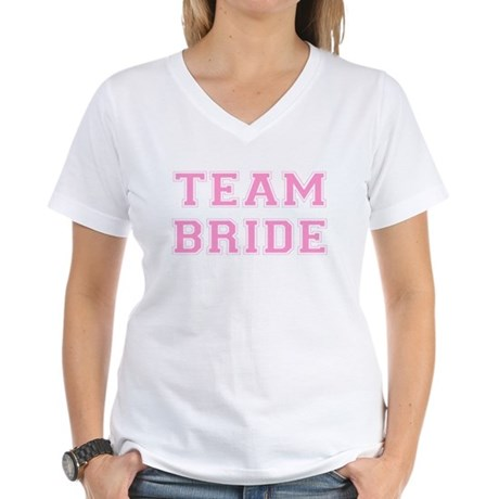 Team Bride Womens V-Neck T-Shirt