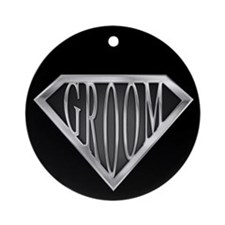 SuperGroom(metal) Ornament (Round)