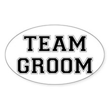 Team Groom Oval Decal