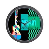 Cute Musician graphic Wall Clock