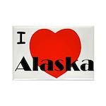 I Love Alaska! Rectangle Magnet (100 pack)