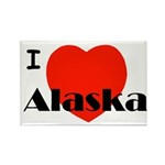I Love Alaska! Rectangle Magnet (10 pack)