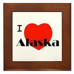 I Love Alaska! Framed Tile