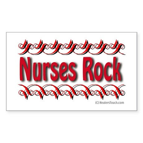 Nurses Rock Rectangle Sticker