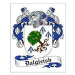 Dalgleish Family Crest Small Poster