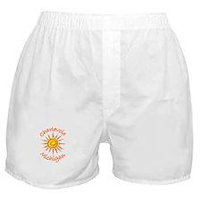 Charlevoix, Michigan Boxer Shorts