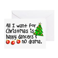 Dance Teacher Christmas Greeting Card