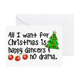 Dance Teacher Christmas Greeting Cards (Pk of 10)