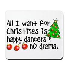 Dance Teacher Christmas Mousepad