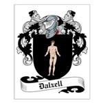 Dalzell Family Crest Small Poster
