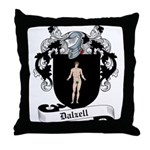 Dalzell Family Crest Throw Pillow