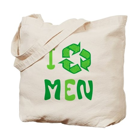 I Recycle Men Tote Bag