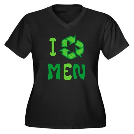 I Recycle Men Womens Plus Size V-Neck Dark T-Shir