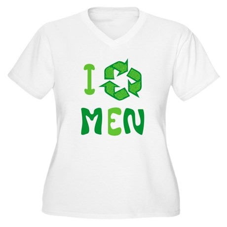 I Recycle Men Plus Size V-Neck Shirt