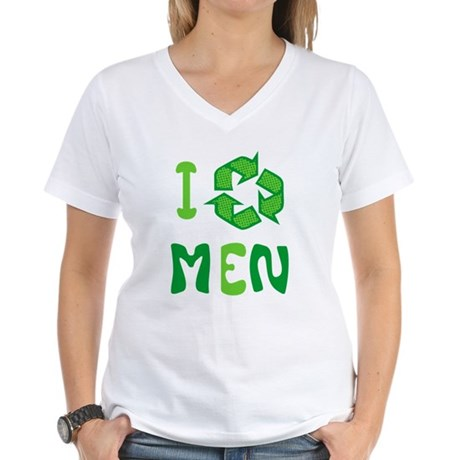 I Recycle Men Womens V-Neck T-Shirt