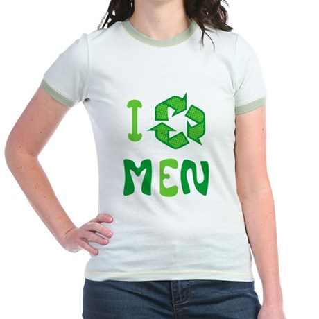 I Recycle Men Jr Ringer T-Shirt