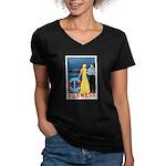 Bermuda Queen Women's V-Neck Dark T-Shirt