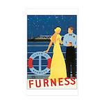 Bermuda Queen Rectangle Sticker 50 pk)