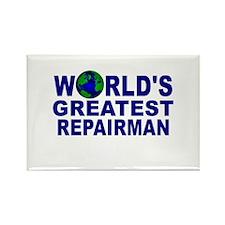 World's Greatest Repairman Rectangle Magnet
