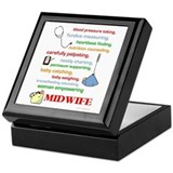 Midwife/ Job Description Keepsake Box