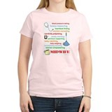 Midwife/ Job Description Women's Pink T-Shirt