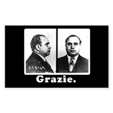 Al Capone Tipjar Sticker GRAZIE Decal
