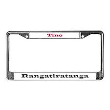 Tino Rangatiratanga License Plate Frame