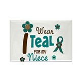 I Wear Teal For My Niece 12 Rectangle Magnet